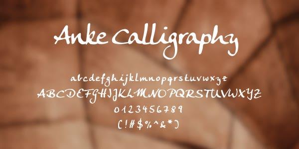 Anke Calligraphy Free Font