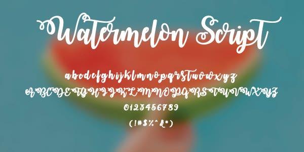 Watermelon Script Free Font
