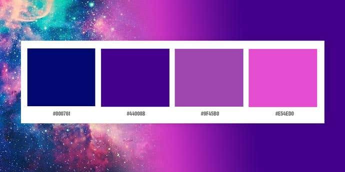 Typical Galaxy Color Palette
