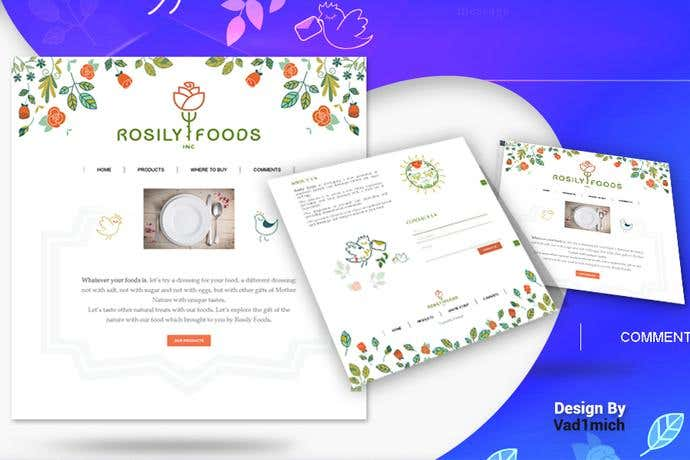 Best ecommerce homepage design for Rosily Foods