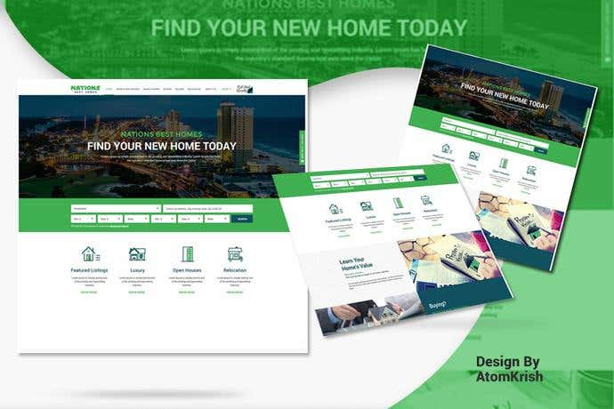 Best business homepage design for Nations Best Homes