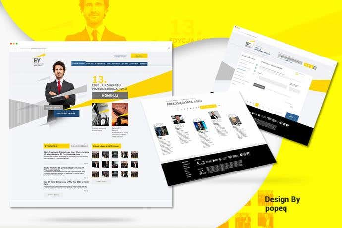 Best business homepage design for EY