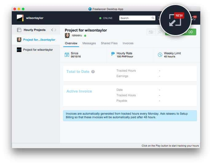 Out Now: Freelancer Desktop App in Compact View - Image 3