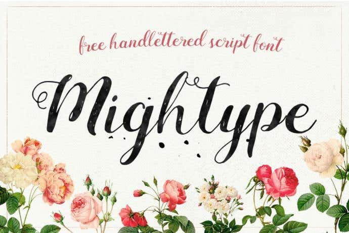 Mightype best free cursive font