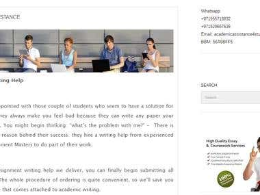 This a website for academic assistance website.