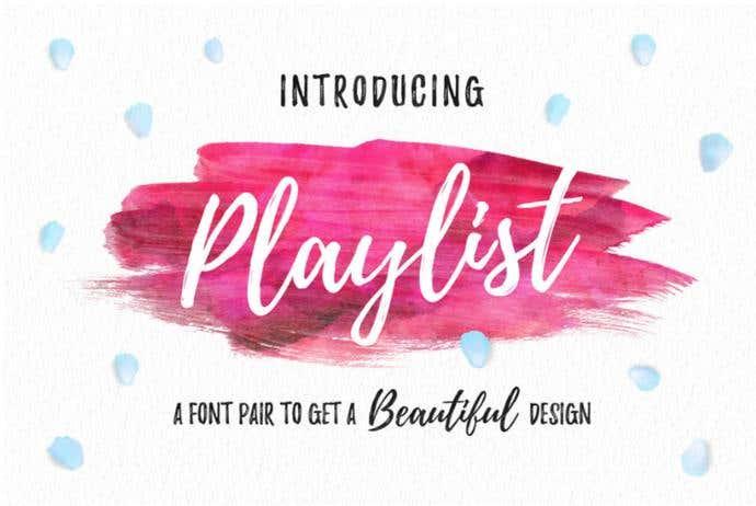 Playlist free cursive font