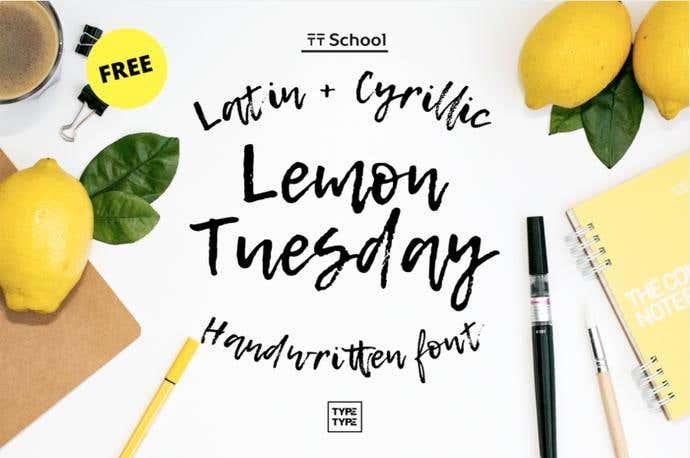 Lemon Tuesday free cursive font