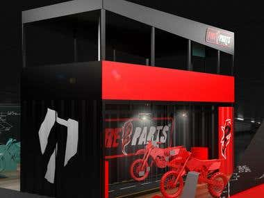 Design for motorcycle exhibition show.