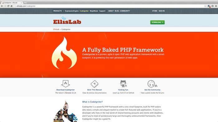 frameworks php - codeigniter