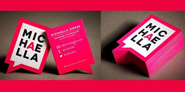 Speech bubble design for modern business card
