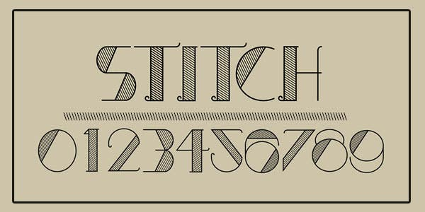 Stitch best number font