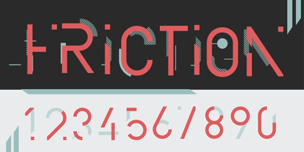 Friction best number font