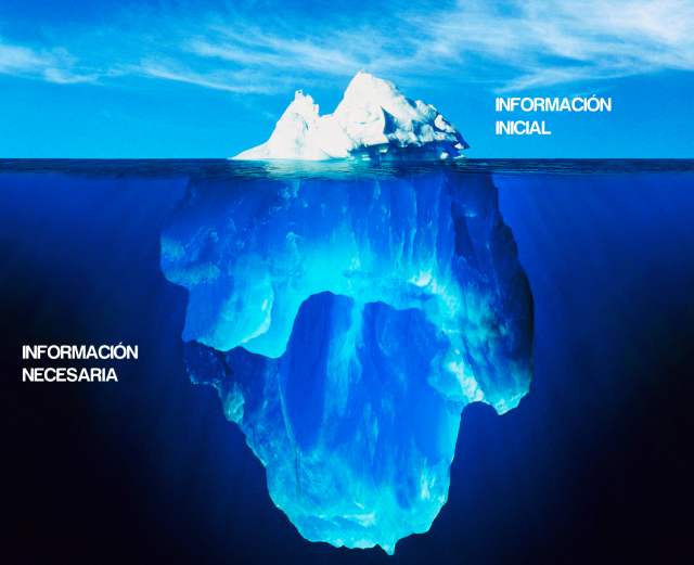 Diferencia entre información necesaria e información brindada