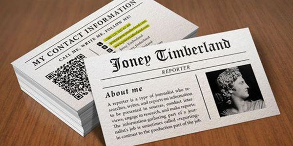 News design for modern business card