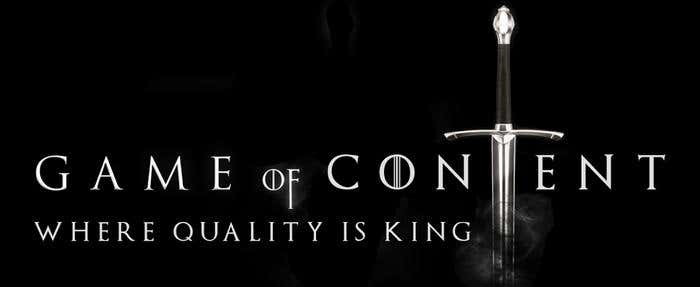 game of content is king quality nubelo