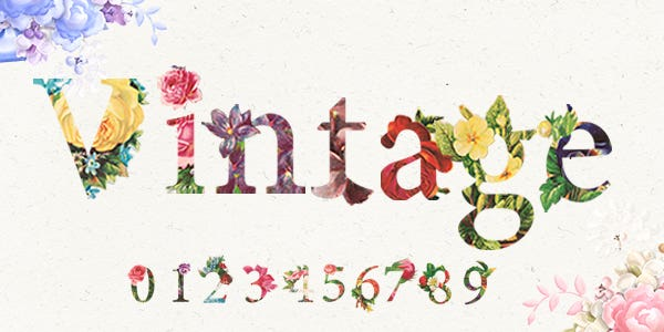 Vintage font best number font