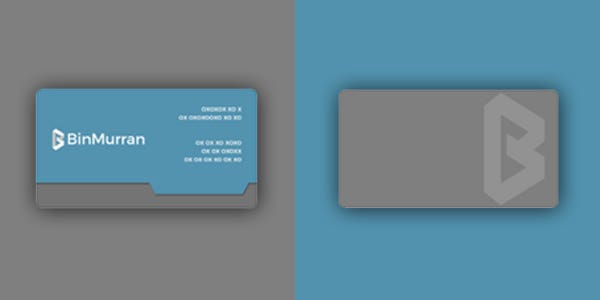 Sleeve design for modern business card