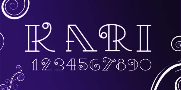 Kari best number font