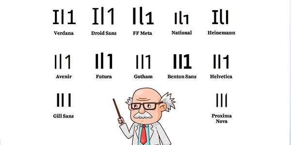 The il1 test for cursive font choices