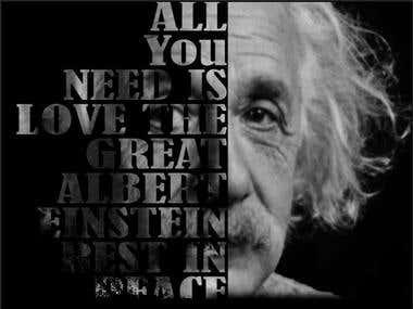 Love for the Master Mind , Albert Einsteine