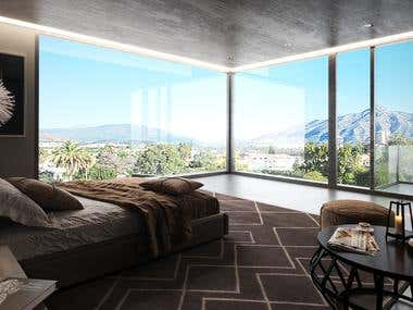 Interior Design created for luxury contemporary villas in Marbella