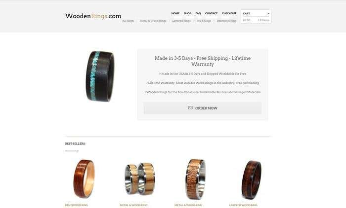 Website Revamp Boosts Revenue of Wooden Rings Store - Image 1