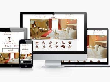 """Joomla CMS website build from """"zero"""" with Booking system for hotel and custom made component per client requirement."""