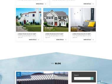 This is a web mock ups of a real estate agent.