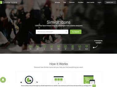 We design and develop SimilarIcons.com website with WordPress content management system.