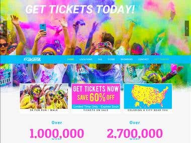 thecolorvibe.com   you can create events invite friends & Tickets