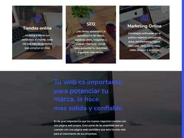 Sitio web personal, implementación Wordpress   www.robertcastro.co