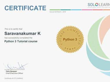 My Python 3 Certification