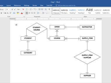 I can do Normalization & create ER Diagram for any data library. I can do the Normalization in Word & Visio. So if you have any Normalization and drawing ERD projects don't hesitate to contact me...