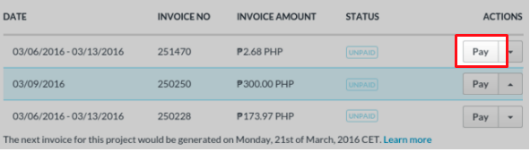 paying invoices project freelancer support