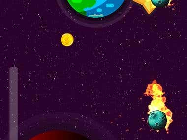 This is a 2D platformer game built using unity 3D. The game's purpose is to dodge falling asteroids and collect coins,gems, and power ups along the way to score as high as possible. I have implemented In-App purchases using Unity's IAP(in app purchases) API, i have also implemented Google Admob for banner and interstitial ads in the game.  You can check out the game on Google playstore by using the link provided.  LINK: https://play.google.com/store/apps/details?id=com.Dream7Walker.AsteroidShower