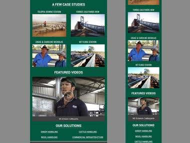 A responsive email design for an agro tech company