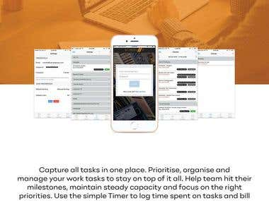 Capture all tasks in one place. Prioritise, organise and manage your work tasks to stay on top of it all. Help team hit their milestones, maintain steady capacity and focus on the right priorities. Use the simple Timer to log time spent on tasks and bill customers for your time.