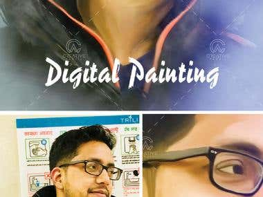 Sample design of Digital Painting.