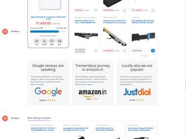 Ecommerce for Laptop Accessories