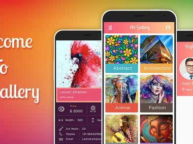 •Art Gallery is an online application, which is used to display and sell art works of artist irrespective of their nationality, gender and other narrow consideration, through auction.   •Artist can register online for being a member in the art gallery and each artist can upload the digital copy of their art work under the respective categories.  •They can host their art work either for auction or for fixed price.  •Art lovers have to go to the art exhibition to collect their favorite arts or painting.  •Art Gallery is application software and it is very helpful for the art lovers and others who want to know the addresses where this kind of arts will we sold.  •Art Gallery brings you an opportunity to view arts or painting at our Online Art Gallery  •The Online Art Gallery is updated daily, so the user can view the latest collection of contemporary arts online from anywhere in the world.