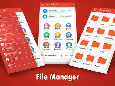 File Manager is easy and powerful file explorer for Android devices. It's free, fast and full-featured. Because of its simple UI, it's extremely easy to use. With File Manager , you can easily manage your files and folders on your device, NAS(Network-attached storage), and cloud storages. What's more, you can find how many files & apps you have on your device at a glance immediately after opening File manager.  It supports every file management actions (open, search, navigate directory, copy and paste, cut, delete, rename, compress, decompress, transfer, download, bookmark, and organize). File Manager Plus supports media files and major file formats including apk.  Major locations and functions of File Manager Plus are as following:  • Main Storage / SD card / USB OTG : You can manage all files and folders on both your internal storage and external storage.  • Downloads / Images / Audio / Videos / Documents / New files : Your files and folders are automatically sorted by their file