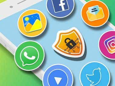 ☞ AppLock can lock Facebook, Whatsapp, Gallery, Messenger, Snapchat, Instagram, SMS, Contacts, Gmail, Settings, incoming calls and any app you choose. Prevent unauthorized access and guard privacy. Ensure security. ☞ AppLock can hide pictures and videos. Hidden pictures and videos are vanished from Gallery and only visible in the photo and video vault. Protect private memories easily. No pin, no way. ☞AppLock has random keyboard and invisible pattern lock. No more worry people may peep the pin or pattern. More safe!  ★ With AppLock, you will: Never worry about parents check your Snapchat, Musical.ly! Never worry about friends borrow your phone to play games with mobile data again! Never worry about a workmate gets your phone to look the gallery again! Never worry about someone reads private data in your apps again! Never worry about kids mess up Settings, send wrong messages, paying games again!