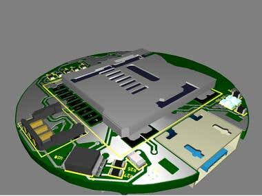 The inertial Multi-Sensor is a low power device.  That has been designed with LSM9DS1 iNEMO inertial module, placing all the components on 27mm diameter PCB. It allows to detect magnetic field, linear acceleration as well as gyroscope sensing.
