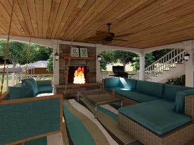 Redesign 2-story patio + four season sunroom addition