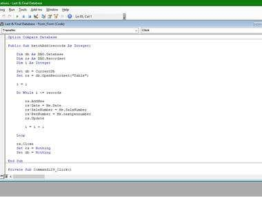 I can write codes for access events very well. Please contact me that if you have any access event projects...
