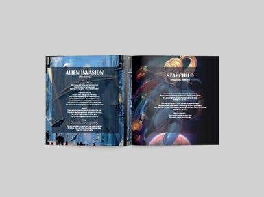 CD Lyrics Booklet for a Band