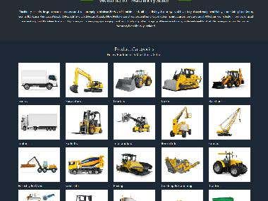 Canadian Heavy Machinery and parts seller wordpress ecommerce website