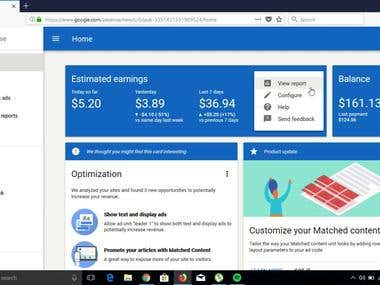 Google Adsense Approval Picture Proof.I will take you to the Google AdSense Approval 150$ in only one month.Your any topic of website.