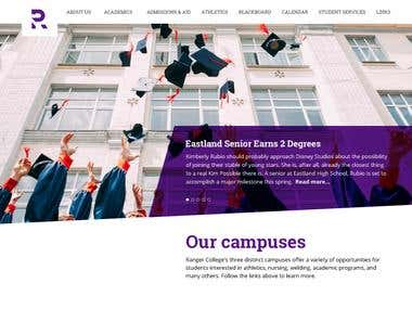 It was a great opportunity and pleasure to work for the fifth fastest-growing two-year college in the USA: Ranger College. We did UI/UX, web development and the brand concept for this project.