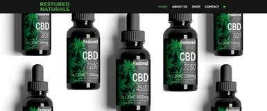 CBD Product Online Shop - Website